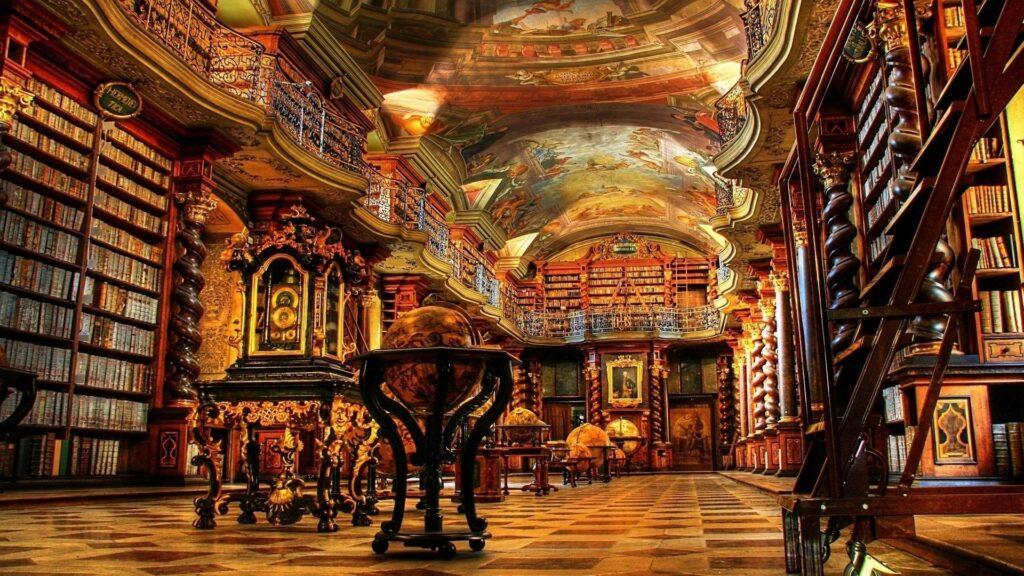 La biblioteca barocca di Praga