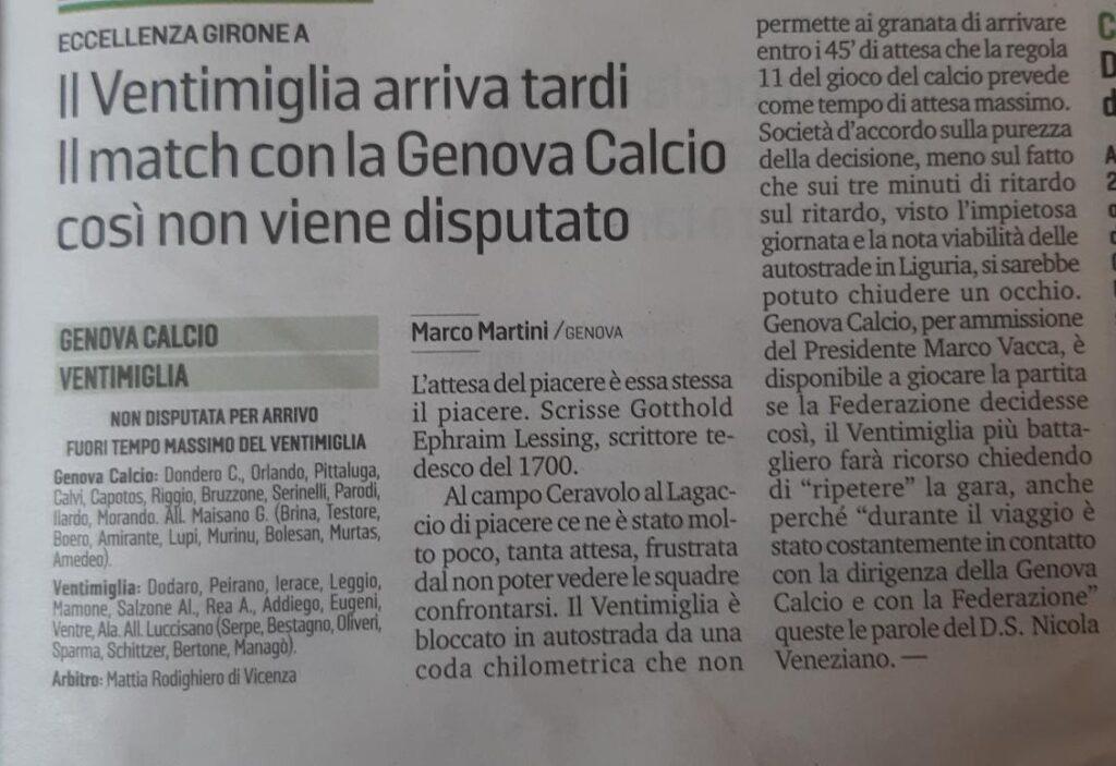 Secolo XIX 27/09/21